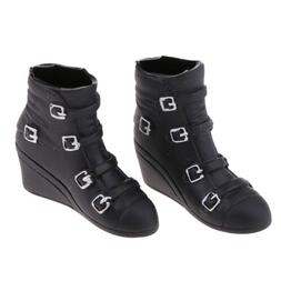 1/6 Girls Fashion Wedge Heel Boots for 12'' Action Figure Ph