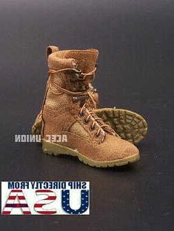 """1/6 Women Soldier Assault Combat Boots SAND For 12"""" Female F"""
