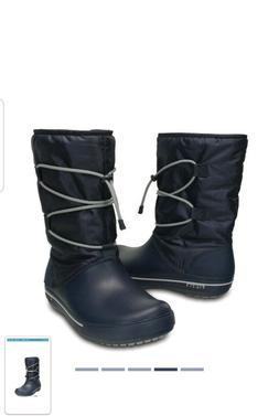 Crocs 11.5 Cinch Womens Cold Winter Boots New $79.99 Size 4M