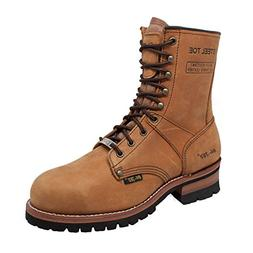 "AdTec Men's 1740 Logger Boots 9"" Steel Toe"