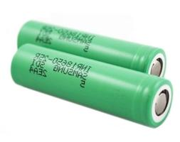 2 Samsung INR18650-25R 18650 2500mAh 3.6v Rechargeable Flat