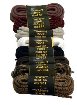 2 Pair - 7/32 Extra Large diameter Boot shoelaces oxford chu