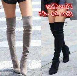 2019 New Faux Suede Slim <font><b>Boots</b></font> Sexy Over