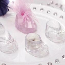 60 pcs Clear Plastic Gender Neutral Baby Shower Favors Booti