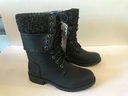 DailyShoes Womens 5 Military Natalie Combat Boots Ankle Cred