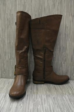 New Rampage Womens Hansel Brown Riding, Equestrian Boots Siz