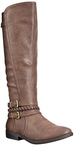 Rampage Women's Indap Riding Boot Dark Brown 8 B US