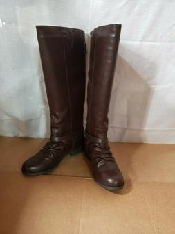 TOETOS Women's ARIAZ Fashion Knee High Riding Boots SIZE-9.5