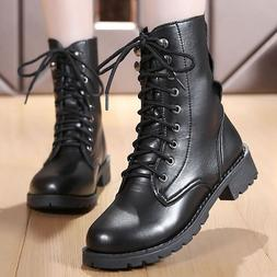 Ankle <font><b>boots</b></font> for women black large size 4