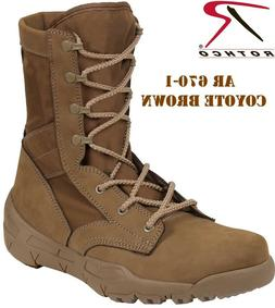 AR 670-1 Coyote Brown Military Boots Lightweight V-Max Comba