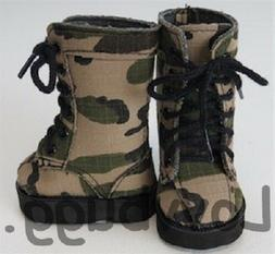 Army Green Combat Boots Camo Camouflage for American Girl /