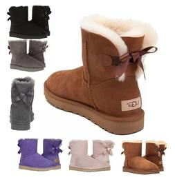 Authentic UGG Women's Shoes Mini Bailey Bow Boot Chestnut Bl