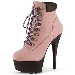 Baby Pink 90s Hip Hop Construction Sneaker Boots Womans Larg