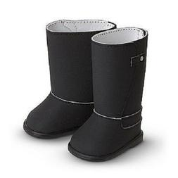 American Girl Black Fashion Boots for 18 inch Dolls Knee Hig