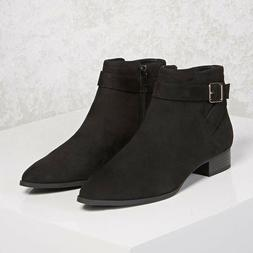 Forever 21 Black Faux Suede Ankle Boots - US Size 5.5
