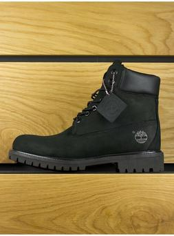 Timberland Black Leather Nubuck Premium 6 Inch Classic Boots