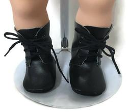 Black Tie Boot Shoes for 15 inch Bitty Baby & Twin Doll Clot