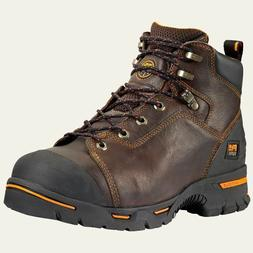 """Timberland Pro Boots 52562 Mens Endurance 6"""" Steel Toe Brown"""