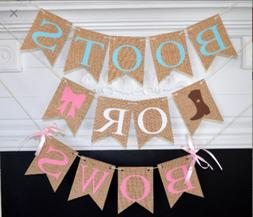 Boots or Bows Gender Reveal, Boots or Bows Banner, Gender Re