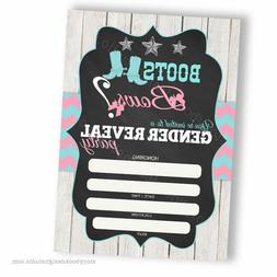Boots or Bows Gender Reveal Fill In Invitations/ Digital or