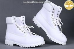 timberland boots women Size 8 All White New In Box Retro