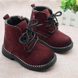 Boys Baby Boots For Girls Children Kids Ankle Zip Sneakers C