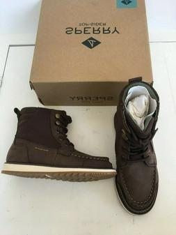 Sperry boys brown dockyard boots shoes size 12 new