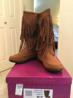 Rampage Brand Fringed Ladies Boots, New, Size 8.5