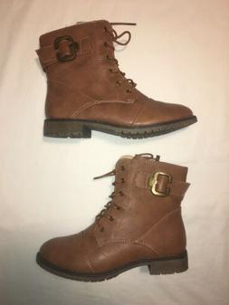 Top Moda Brand New Women's Military Lace Up Combat Boots, Si