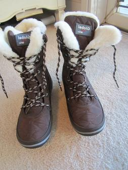 brown boots sz 6 5 new lace