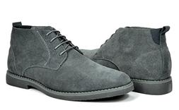 bruno marc men s chukka grey suede
