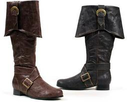 Captain Sparrow Buckle Monk Strap Knee High Cuffed Pirate Bo