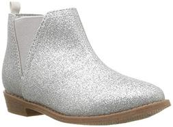 carter's baby-girls' Carmina Western Boot, Silver, 9 M US To