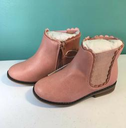 Cat & Jack Toddler Ashley Ankle Boots Pink New Girls Sizes 5