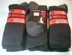 Wolverine Cotton Full Cushion Steel Toe Boot Sock, Large, Bl