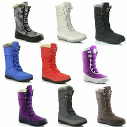 DailyShoes Warm Fur Water Resistant Eskimo Lace up Winter Sn