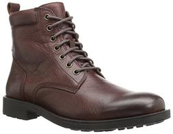 206 Collective Men's Denny Lace-up Motorcycle Boot, Dark Bro