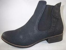 RAMPAGE Deputy Women's Ankle Boots Black Booties Perforated