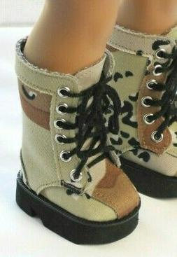 """Camo Military Army Boots Shoes For 18"""" American Girl Doll Cl"""