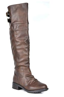 DREAM PAIRS Women's Knee High and up Riding Boots 9.5M