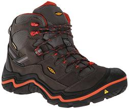 KEEN Men's Durand Mid WP Hiking Boot,Magnet/Red Clay,7 M US