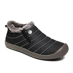 Enly Winter Snow Boots Slip-on Water Resistant Booties for M