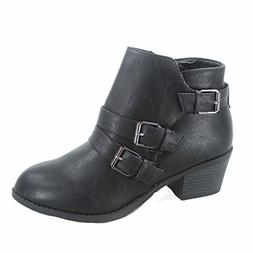 Forever Link Eury-4 Women s Fashion Round Toe Buckles Zipper 4a518800e