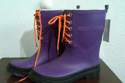Crossroads Fashionable lace up rain boots for girls Size 6 C
