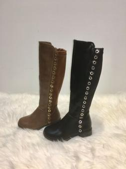 Fifty-56K Tall Knee High Cute Winter Boots For Kids Girls Si
