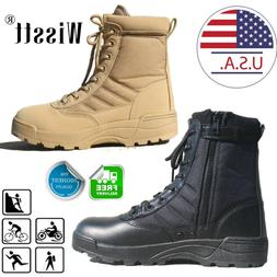 Forced Entry Leather Tactical Deployment Boot Military SWAT
