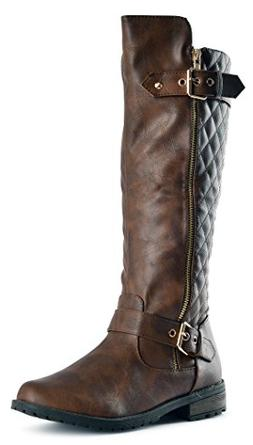 JJF Shoes Forever Mango-21 Women's Boots Brown Pu, 7 B US