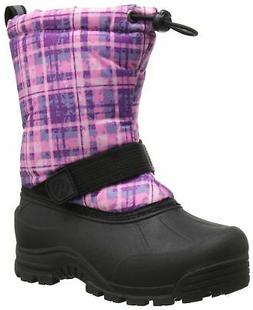 frosty winter snow boot plaid