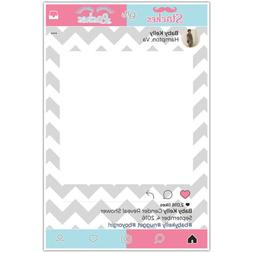GENDER REVEAL BOY / GIRL SELFIE FRAME BABY SHOWER SOCIAL MED