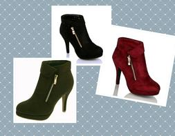 Top Moda George-40 Women's Ankle Wrap Boots Booties Fashion